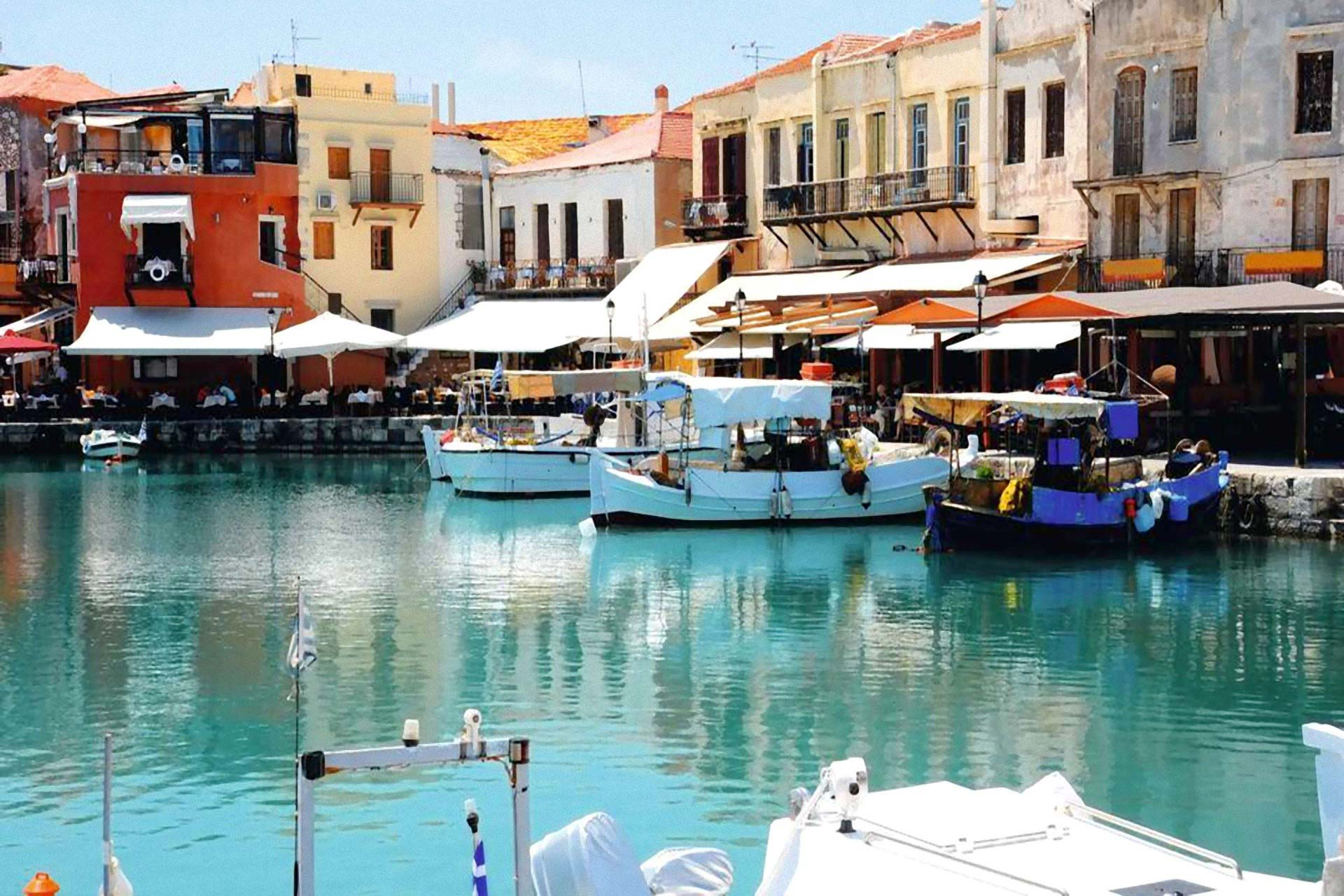 Rethymnon old harbour Crete