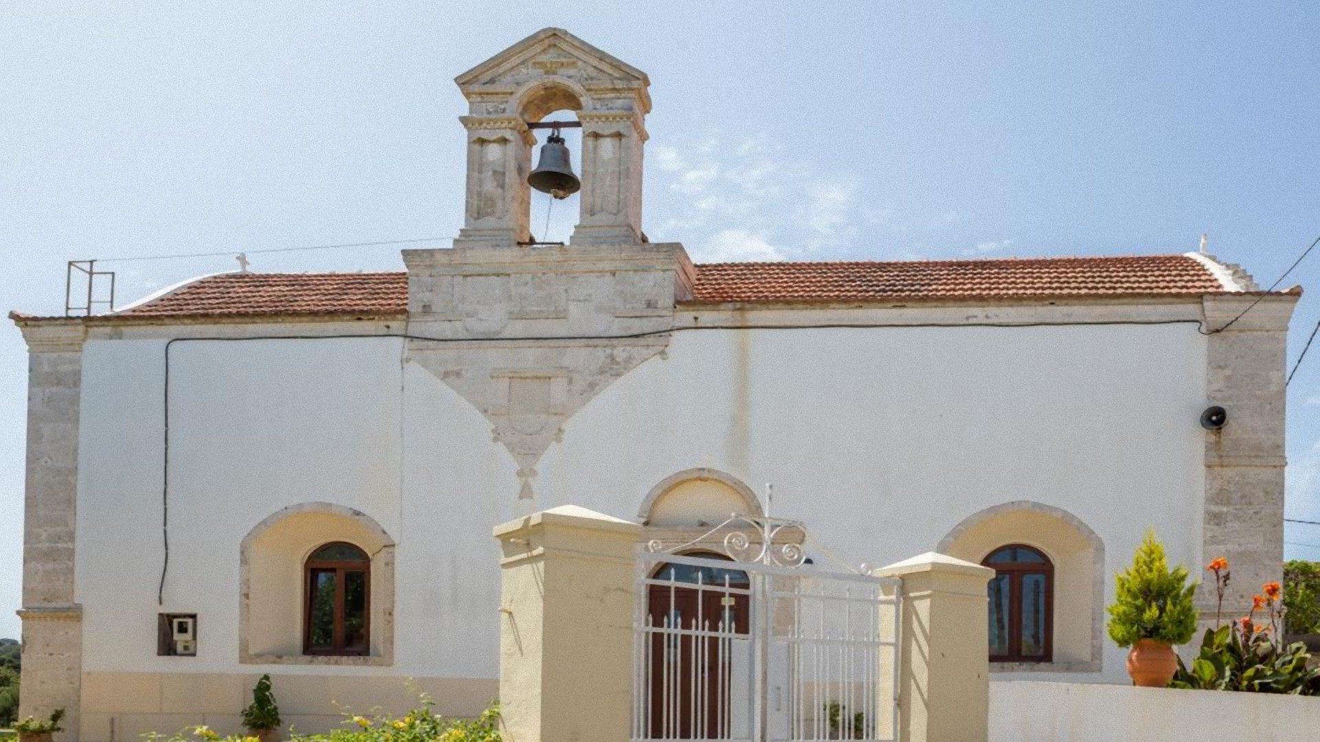 Church in Prines village Rethymnon Crete