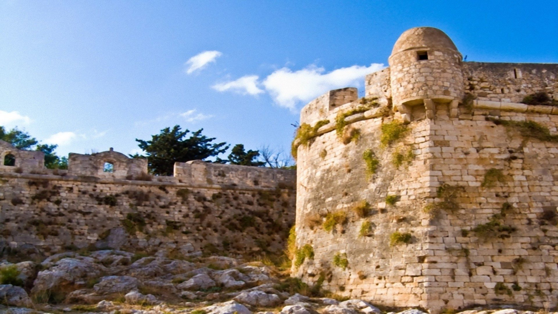 The Fortezza is the citadel of the city of Rethymno in Crete, Greece