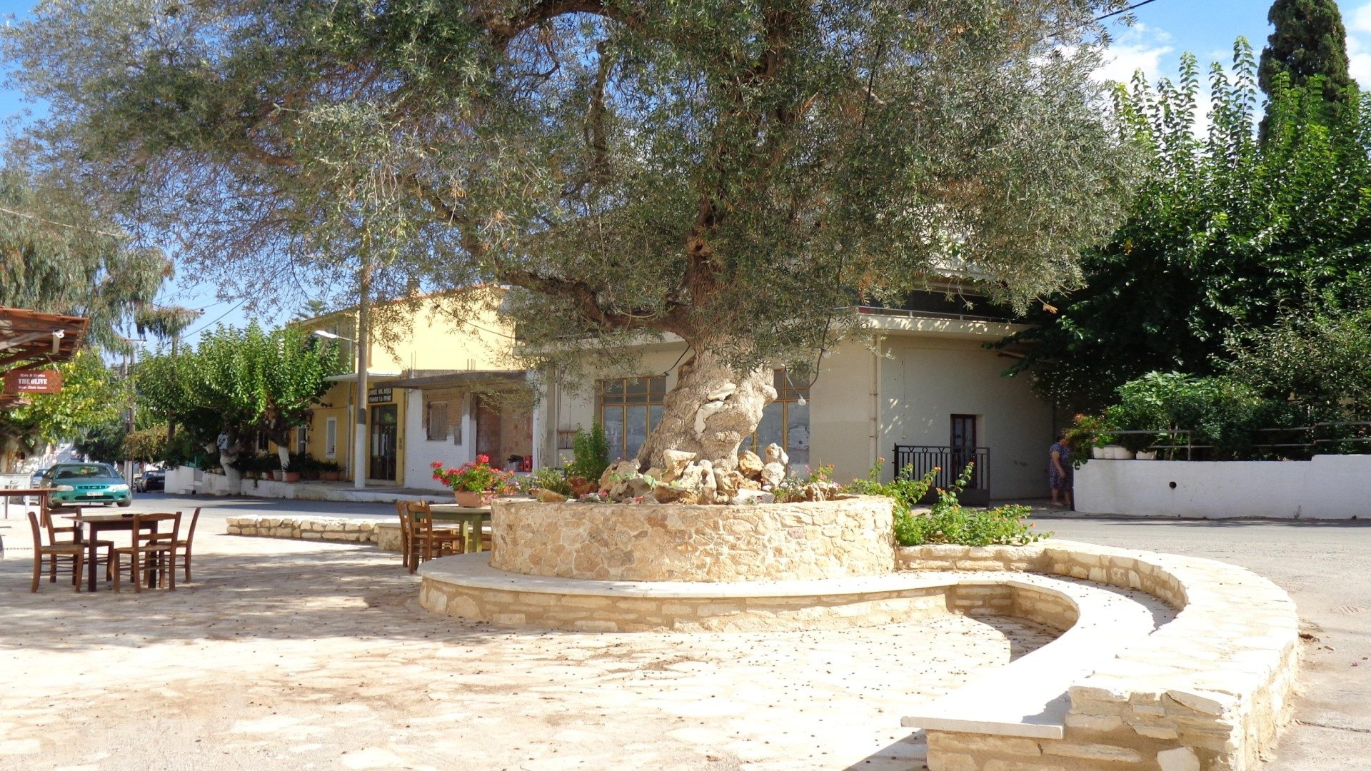 Prines village in Rethymno Crete